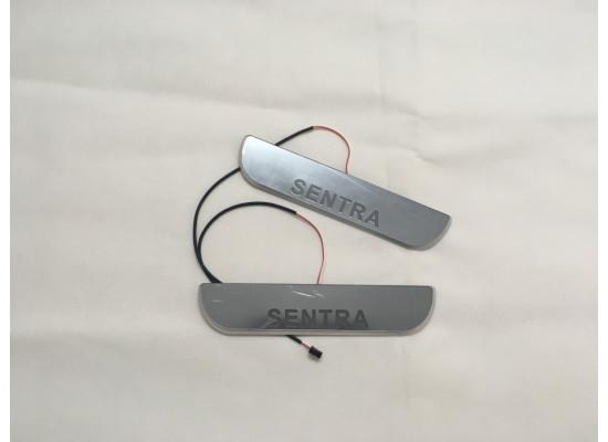 Накладки на пороги LED для Nissan Sentra (фото)