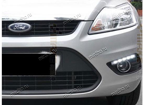 ДХО для Ford Focus 2 с отверстиями под ПТФ (фото)