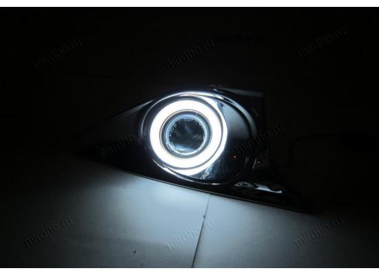 Противотуманные фары с ангельскими глазками для Toyota Camry V50 2011-14 (фото)