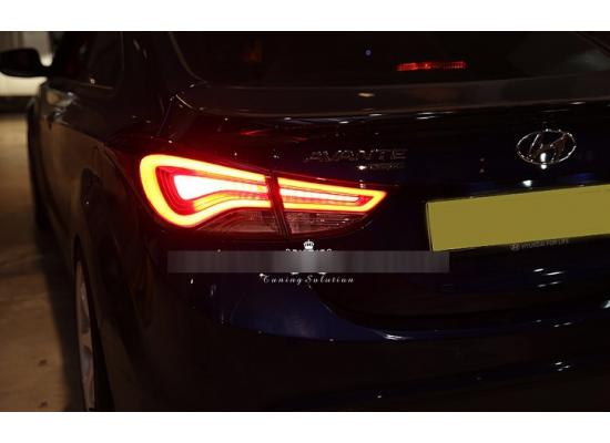 Задние фонари для Hyundai Elantra 5 и 5 Рестаилинг 2010-2016 Корейский дизаин (фото)