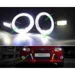 ДХО для Ford Focus 3 Angel Eyes в заглушки противотуманок