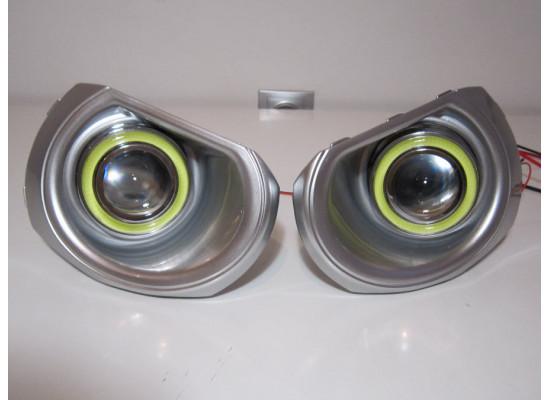 Противотуманные фары с ангельскими глазками для Subaru Outback 4 2009-2014 (фото)