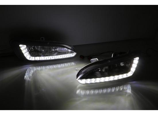 ПТФ с ДХО для Hyundai Santa Fe 3 2012-2016 г.в. (фото)