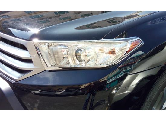 Хром накладки на фары и задние фонари для Toyota Highlander 2 Рестайлинг 2010-13 (фото)