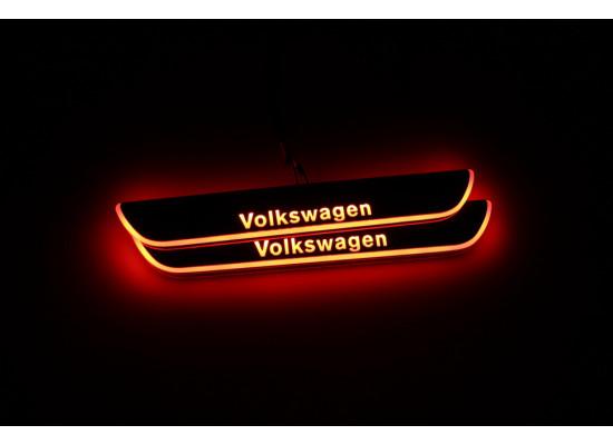 Накладки на пороги LED для Volkswagen Passat СС (фото)