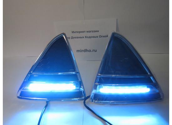 ДХО для Форд Фокус 3 двойные горизонтальные (фото)