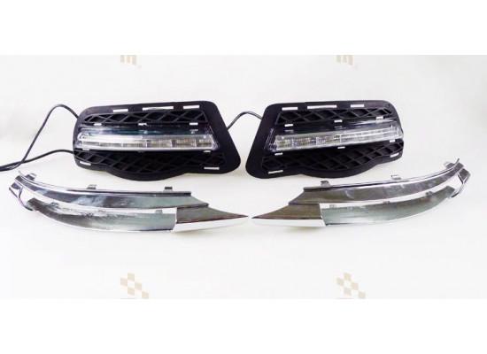 ДХО для Mercedes-Benz C-klasse до рестайлинг 06-10г.в. вариант В