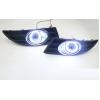 Противотуманные фары с ангельскими глазками для Skoda Fabia 10-14 (фото)