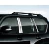Хромированные накладки на окна для Toyota Land Cruiser Prado 2009- по н.в. (фото)