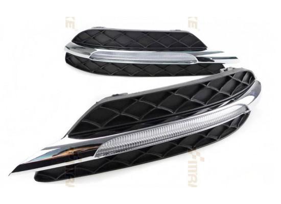 ДХО для Mercedes-Benz C-klasse 11+ рестайлинг вариант 1