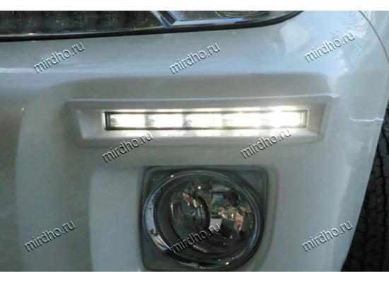 ДХО для Toyota Land Cruiser 200 Рестаилинг 2012-15 врезные (фото)