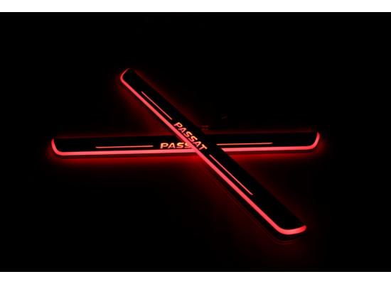 Накладки на пороги LED для Volkswagen Passat