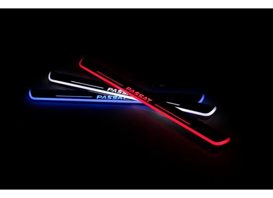 Накладки на пороги LED для Volkswagen Passat (фото)