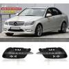 ДХО для Mercedes-Benz C-klasse 11+ рестайлинг вариант 2 (фото)