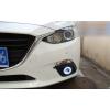 Противотуманные фары с ангельскими глазками для Mazda 3 BM 2013-16