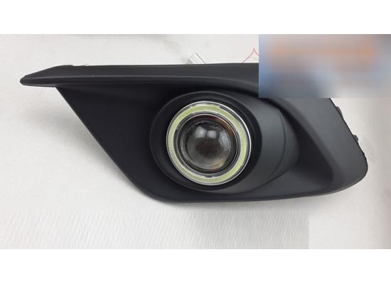 Противотуманные фары с ангельскими глазками для Mazda 3 (фото)