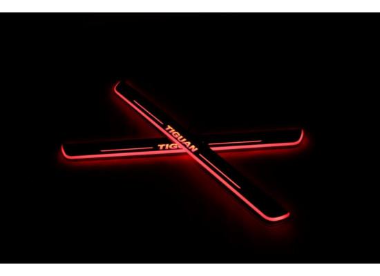 Накладки на пороги LED для Volkswagen Tiguan (фото)