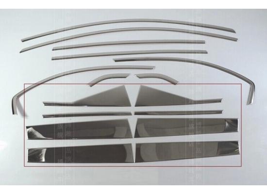 Хромированные накладки на окна для Chevrolet Captiva 2011- по н.в. (фото)
