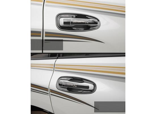 Накладки на ручки дверей для Toyota Land Cruiser Prado 2009- по н.в. Вариант 1