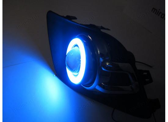 Противотуманные фары с ДХО Ангельские глазки на ASX 2010-13 (фото)