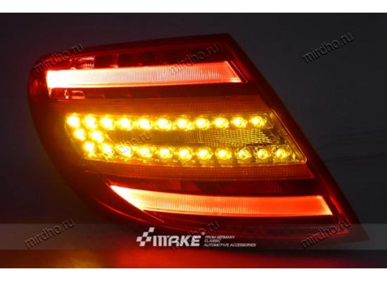 Задняя оптика для Mercedes-Benz C-klasse 07-10 г. в. в стиле рестаилинга после 2010 (фото)
