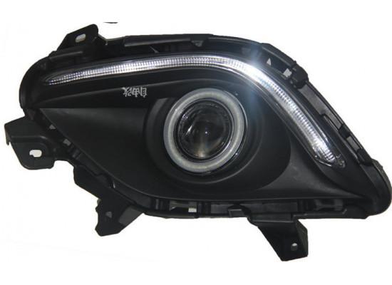 Противотуманные фары с ангельскими глазками для Mazda 6 2012-15 (фото)