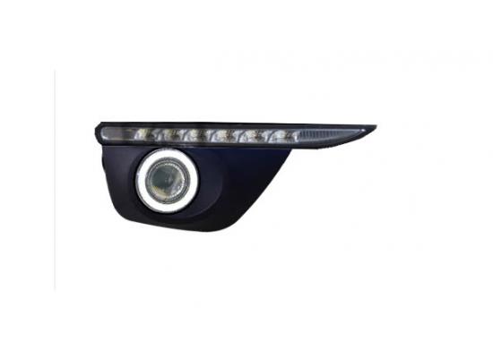 ПТФ с ангельскими глазками для Renault Koleos 1 2011-2016 (оба рестайлинга)