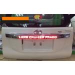 Накладка на крышку багажника с подсветкой для Toyota Land Cruiser Prado 150 Рестайлинг 1 2013-2017 и Рестайлинг 2 2018+