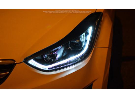 Фары для Hyundai Elantra 5 MD2011-14 и Рестаилинг 2014-16. Вариант 1