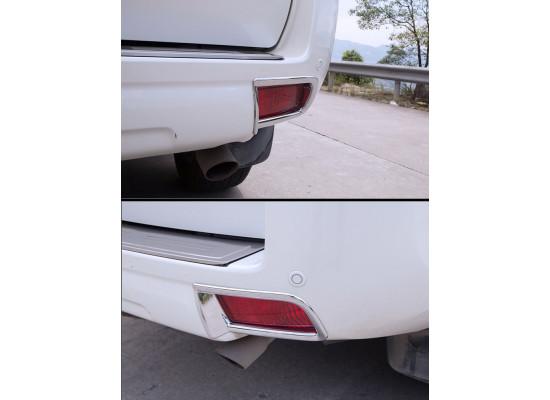 Передняя и задняя накладка на птф для Toyota Land Cruiser Prado 150 Рестайлинг 1 2013-2017 (фото)