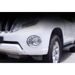 Передняя и задняя накладка на птф для Toyota Land Cruiser Prado 150 Рестайлинг 1 2013-2017