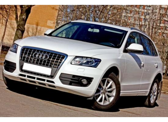 Противотуманные фары с ангельскими глазками для Audi Q5 2008-2012 г.в. (фото)