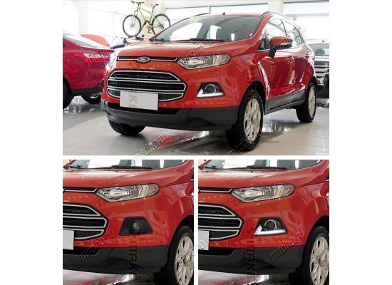 ДХО для Ford Ecosport L-образные (фото)