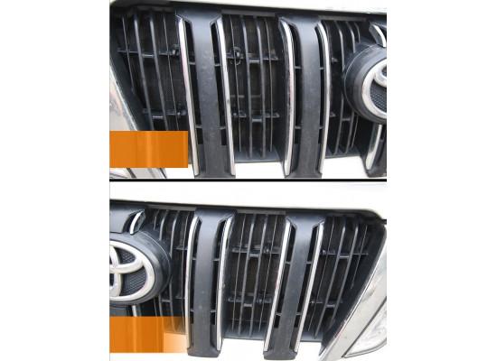 Защитная сетка для радиатора для Toyota Land Cruiser Prado 2009- по н.в. (фото)
