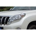 Хромированные накладки на оптику Toyota Land Cruiser Prado 150 рестайлинг 1 и 2 2013-по н.в.