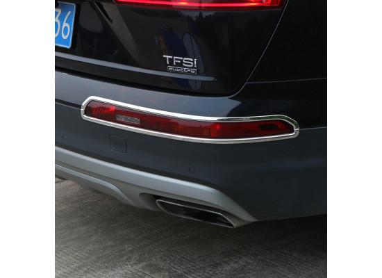 Хромированные накладки на задние ПТФ для Audi Q7 2 2015-н.в.