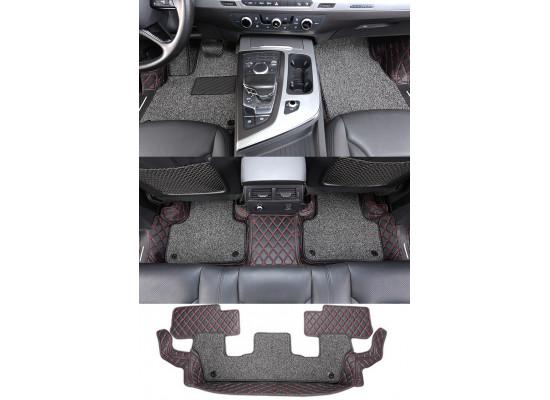Кожаные коврики для Audi Q7 2 на 7 мест 2015-н.в