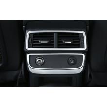 Накладки на задний воздуходув и прикуриватель для Audi Q7 2 2015-н.в.