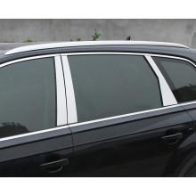Вертикальные накладки на окна для Audi Q7 2 2015-н.в.