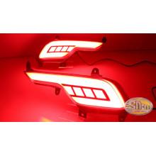 Задние габариты (ДХО) + доп поворотники для Hyundai Santa Fe 3 Рестайлинг (фото)