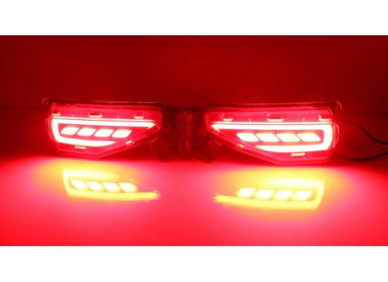 Задние габариты (ДХО) + доп стоп сигнал + доп поворотники для Toyota Fortuner 2015-н.в. (фото)