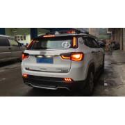 Задние габариты (ДХО) + доп стоп сигнал для Jeep Compass 2 2017-18 Вариант 1