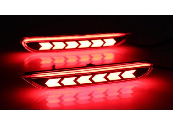 Задние габариты (ДХО) + доп стоп сигнал для Nissan Qashqai 2 2013-н.в.