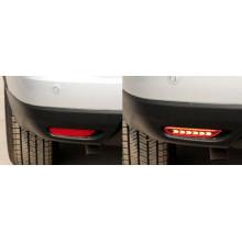 Задние габариты (ДХО) + доп стоп сигнал для Nissan Qashqai 2 2013-н.в. (фото)