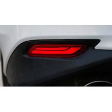 Задние габариты (ДХО) + доп стоп сигнал для Toyota Camry 8 2017-н.в. (фото)