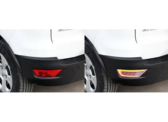 Задние габариты (ДХО) + доп стоп сигнал + доп фонари заднего хода для Ford Ecosport 2014-н.в. (фото)