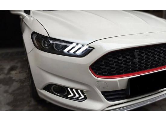Фары для Ford Mondeo 5 в стиле Mustang 2014-н.в (фото)