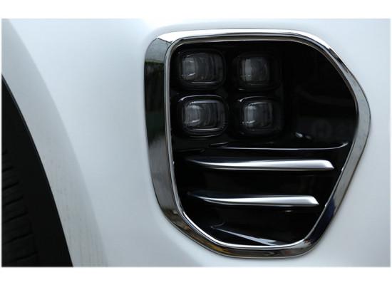 Хромированные накладки на рамки передних ПТФ для Kia Sportage 4 2016-н.в. (фото)