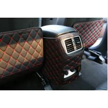 Кожаные защитные накладки на спинки передних сидений для Kia Sportage 4 2016-н.в. (фото)