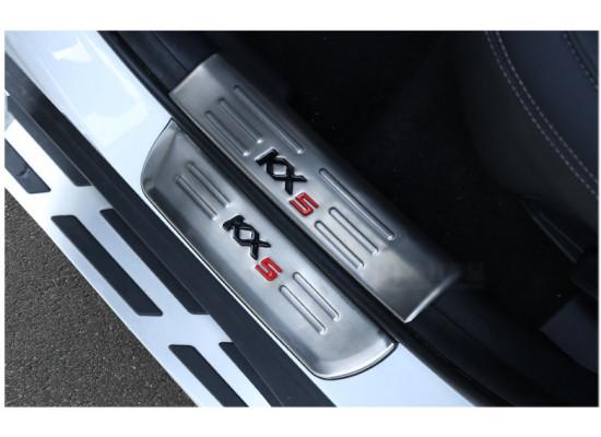 Накладки на пороги для Kia Sportage 4 2016-н.в. (фото)